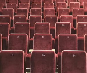 auditorium, maroon, and numbers image
