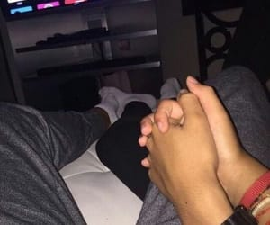 couples, hand holding, and netflix image