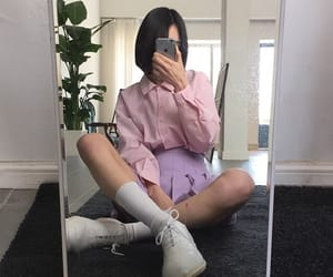 outfit, skirt, and socks image