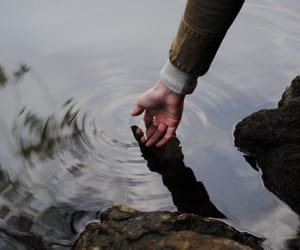 water, hand, and aesthetic image