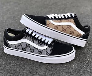 gucci, shoes, and vans image