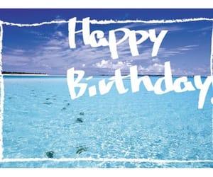 beach, hbd, and birthday image