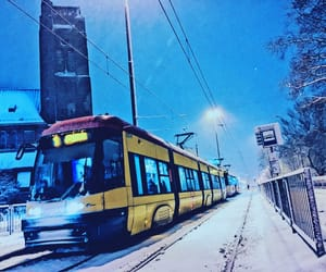 Poland, snow, and tram image