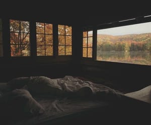 autumn, bed, and sleep image