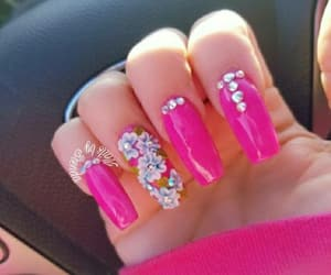 april, pink, and pinknails image