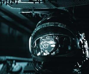 alien, computer, and helmet image