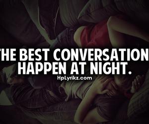 night, love, and conversation image