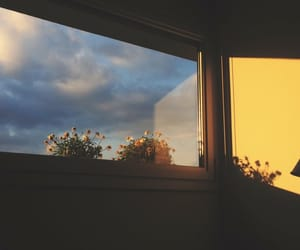 sky, aesthetic, and yellow image