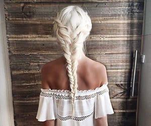 blond, white, and braid image