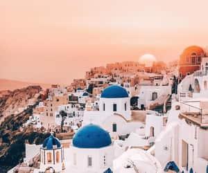 blue, Greece, and santorini image