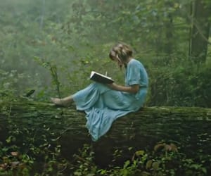 blue dress, book, and fairy image