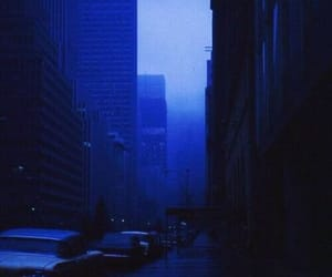aesthetic, blue, and night time image