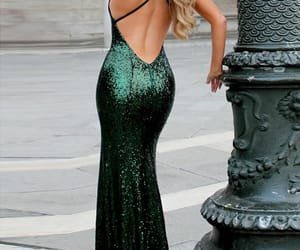 evening dress, party dress, and Prom image