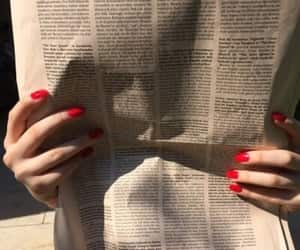 newspaper, aesthetic, and nails image