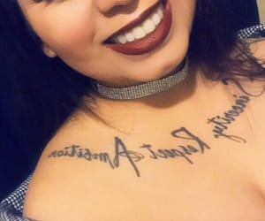 chest tattoo, happy, and smile image