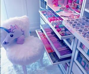 unicorn, pink, and make up image