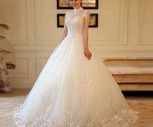 bride, girl, and wedding dress image