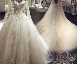 bridal gown, gorgeous, and rhinestone image