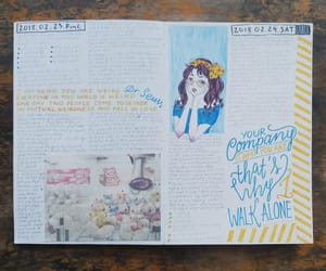 art journal, artwork, and doodles image