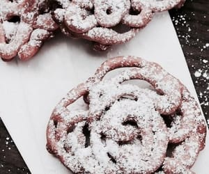 food, funnel cake, and vogue image