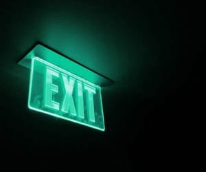 aesthetic, dark, and exit image