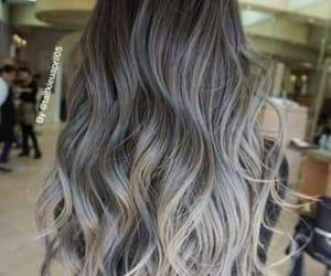 hair, fashion, and grey image