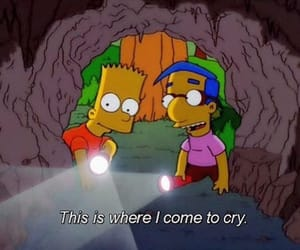 cry, the simpsons, and sad image
