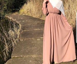 fashion, pink, and hijab image
