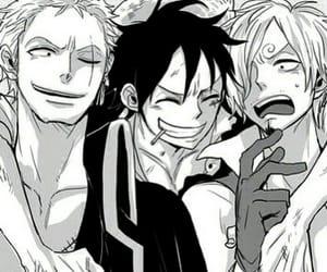 one piece, sanji, and luffy image