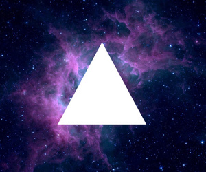 triangle, galaxy, and space image