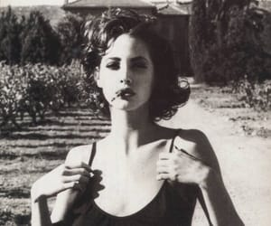 black and white, black, and cigarette image
