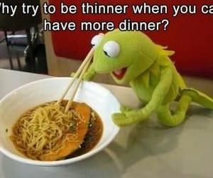 bowl, chopsticks, and dinner image