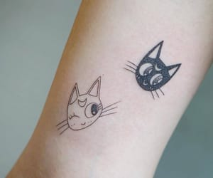 art, cat, and Tattoos image