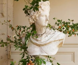 aesthetic, statue, and plants image
