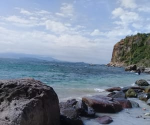 beach, summer, and cavite image