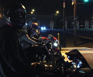 black, city, and motorcycle image