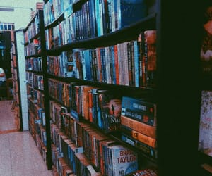 books, bookstore, and nighttime image