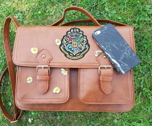 bag, green, and flowers image