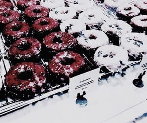 donuts, red, and food image