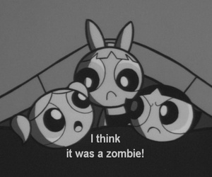 zombie, cartoon, and black and white image