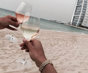 beach, drink, and Dubai image