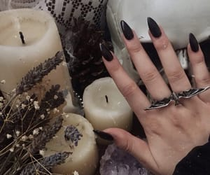candles, gothic, and nails image
