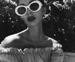 b&w, fashion, and glasses image