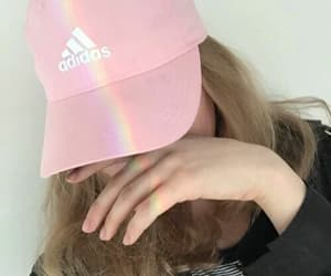 adidas, blonde, and pink image