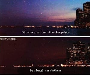 qoutes, Turkish, and gece image