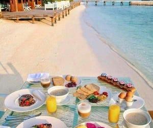 beach, food, and breakfast image