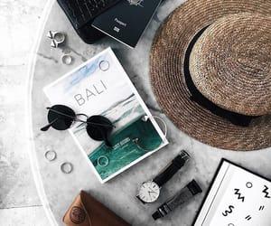 summer, bali, and hat image