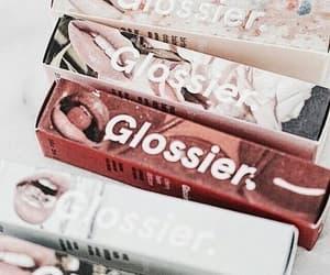 lipstick, makeup, and glossier image