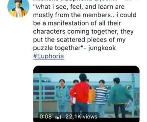 euphoria, wonder, and bts image