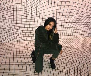 long brunette hair, girl site model, and icon white tiles image
